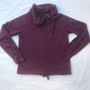 XS Maroon Columbia Cowl Neck Long Sleeve Pullover